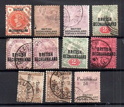 Bechuanaland QV fine used collection Cat Val £100+ WS15804