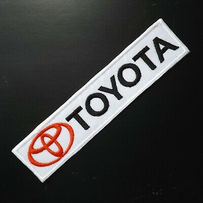 "4.3/4""x1 pc. toyota logo emblem motor racing embroidered iron on sew patches"