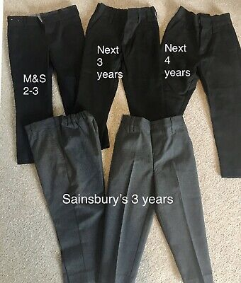 Boys School Trousers Age 3 Marks And Spencer Next TU