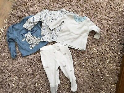 Baby Boy Sleepwear 0 - 3 Months Mothercare Marks And Spencer's 4 Items