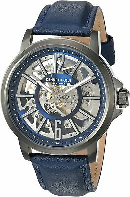 Kenneth Cole New York Men's Automatic Stainless Steel & Leather Watch KC50779010