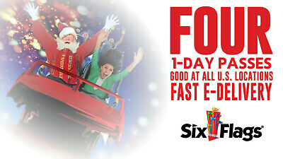 (4) Six Flags Holiday in the Park 1-day Tickets (2019 Season, Email Delivery)