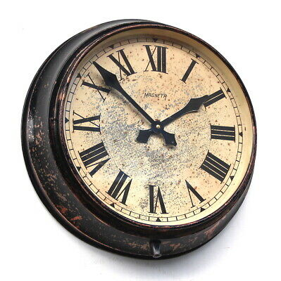 ENGLISH Copper on brass 1950s Vintage Retro Industrial Factory Wall Clock
