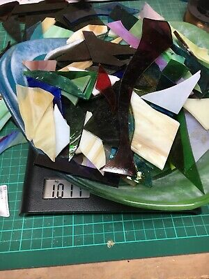 Stained Glass Offcuts For Mosaic/Jewellery - Mixed 1kg