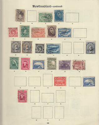 CANADA PROVINCES Newfoundland: 1862s-1935 Early mint & used collection - 13310