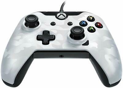 Xbox One Wired Controller & Windows PDP White Camo NEW 1 S X Officially Licenced