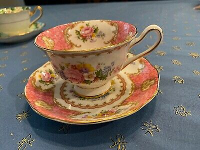 Royal Albert Bone China England Teacup and Saucer Lady Carlyle 855022