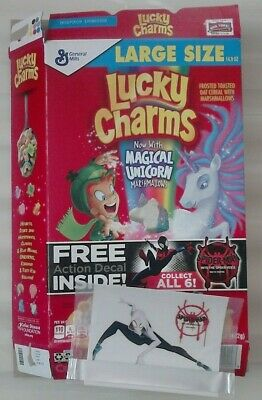 Spiderman Lucky Charms (Empty) Cereal Packet With Free Gift