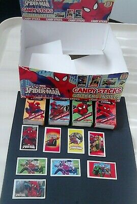 Ultimate Spiderman  Stickers + Packets  + Display Box