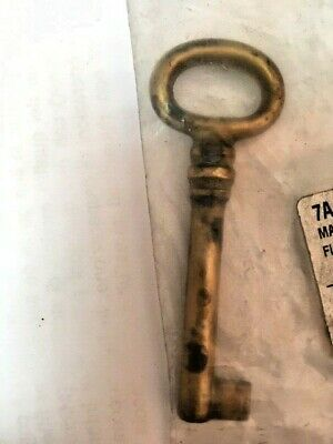 1 Pz Key Pass-Partout Brass Antique Keys Furniture,Drawers,Cupboards, Gates 70
