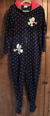 All In One Pyjamas Navy Me To You With Feet.               Size Medium