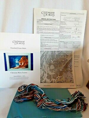 Counted Cross Stitch Kit Lion Majesty III Picture Opened