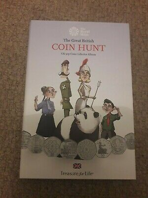 New Royal Mint 50p Pound Coin Collectors Album The Great British Coin Hunt.