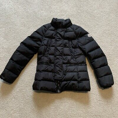 Moncler Girls Black Coat Size 10 Years