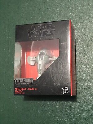 Star Wars Black Titanium Series Boba Fetts Slave 1 I #10 Die Cast New B3939 10