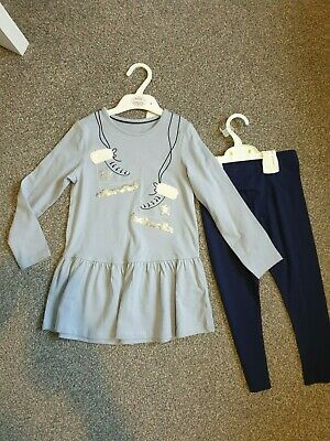 BNWT *Marks & Spencers M&S* Christmas tunic and leggings outfit set *4-5yrs*