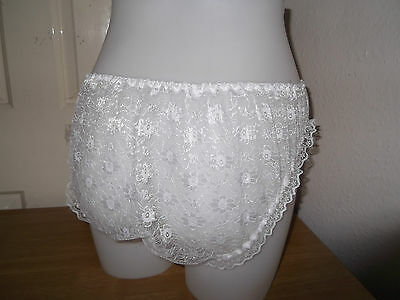 Ladies~Sissy~Maids~Adult Baby~Unisex ~ Cd/Tv Satin Front, Lace Back  Panties