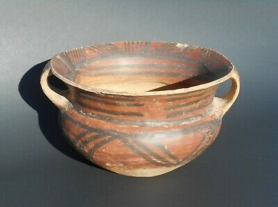 """Large 7.5"""" Chinese Neolithic Painted Pottery Majiayao Yangshao Culture c.2500 BC"""