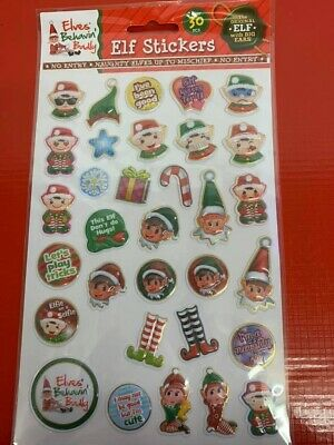 ELF GAMES ACCESSORIES. Elf Themed Stickers. Elf Prop. Christmas eve box