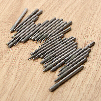 30Pc Diamond Grinding Burr Drill Bits 3mm Shank For Power Rotary Drill Bits Tool