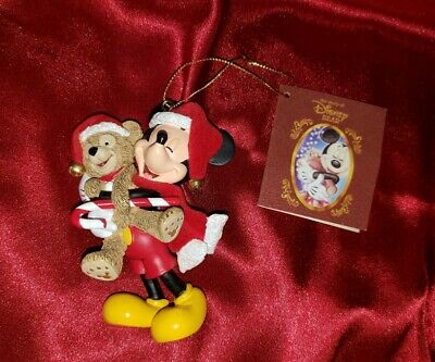 Disney Parks MICKEY MOUSE & DUFFY THE BEAR Christmas Ornament! Santa