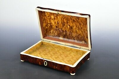 Faux Tortoise Shell Dresser Box 19th Century