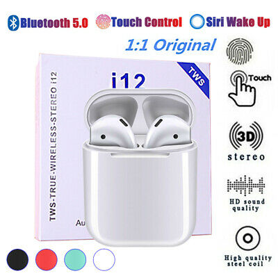 2019 Wireless Headset Headphone Earbud Pods For iPhone Android Case Xmas Gift
