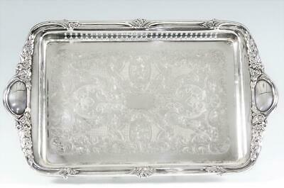 """Vintage Silverplated 15 1/4""""  Gallery Tray by Sheridan"""