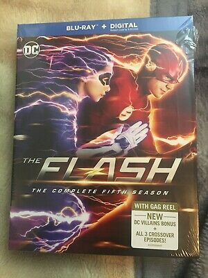 The Flash Complete Fifth Season 5 (4 Disc Bluray Set) W/SLIPCOVER