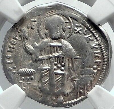ANDRONICUS II PALAEOLOGUS Silver Basilicon Byzantine Coin CHRIST NGC i81828