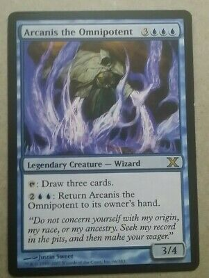 MTG Magic the Gathering Card x1:10th Edition: Arcanis the Omnipotent LP/NM