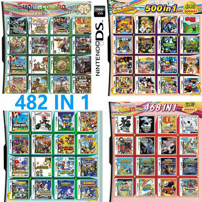 520/500/482/468/208 IN 1 Game card Multi For Nintendo NDS DS NDSL NDSi 2DS 3DS