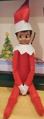 Christmas Elf Dark Skin Dark Brown Hair Blue Eyes BOY DOLL ONLY