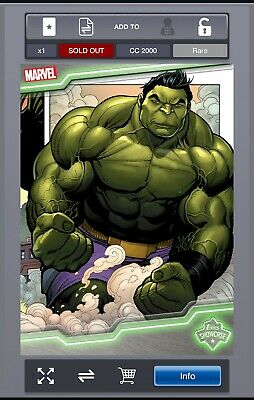 Rare - MARVEL Collect! by Topps - Hulk Showcase ID 4136 - CC2000