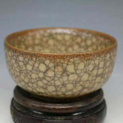 Old Chinese Song Dynasty Guan Yao kiln Bowl cracked glaze porcelain Bowls