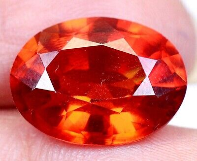 12.15 CT Ceylon's Natural Padparadscha Sapphire Oval Shape Certified Gem OF9770