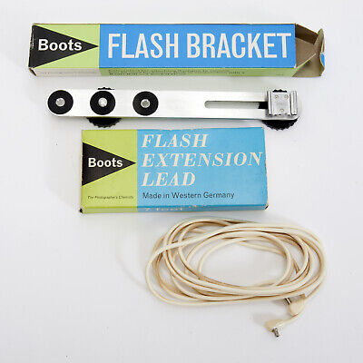 Vintage Boots Flash Extension Bracket And Extension Sync Cable