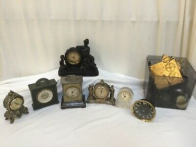 Collection Of Vintage Clocks And Parts