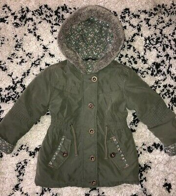 Girls Khaki Parka Coat 2-3yrs