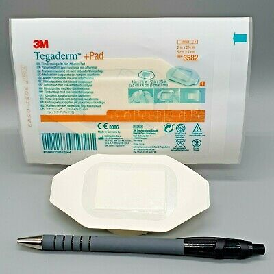 Tegaderm Film +Pad 5cm x 7cm Pack of 10 Transparent / Waterproof / Non-Adh Pad