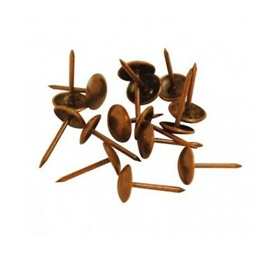 100 X UPHOLSTERY PINS STUDS TACKS NAILS ANTIQUE BRONZE 10.5 x 16mm FURNITURE PIN