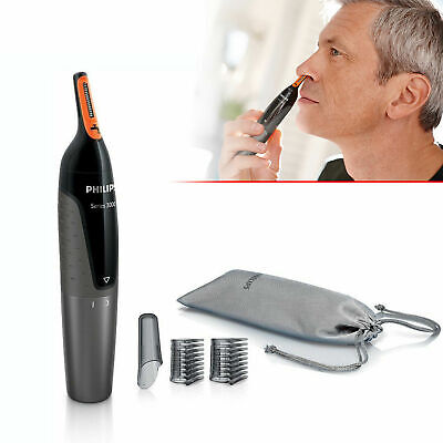 Philips NT3160/10 Battery Operated Nose Ear Hair And Eyebrow Trimmer Showerproof