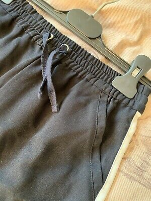 Next Girls Trousers Age 8 Navy With White Stripe, Never Worn