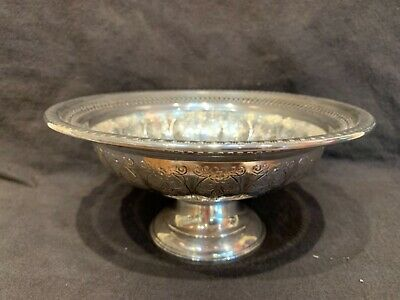 """Lovely Hamilton sterling silver weighted pedestal fruit bowl 4x8"""""""