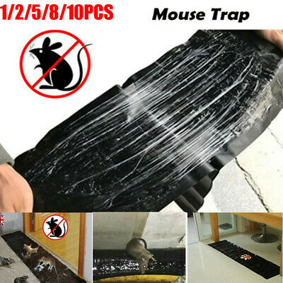 1-10 X Mouse Traps Sticky Super Board Trap For Rats Rodents Cockroaches Bugs Ant