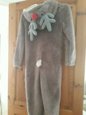 Reindeer (Rudolph) Onezee/All-in-one PJs Christmas  Age 9-10 Years