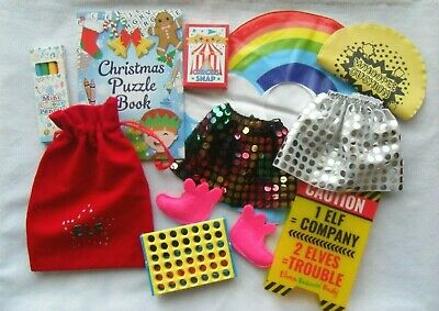 Naughty Elf Christmas props bundle skirts shoes games sign accessories