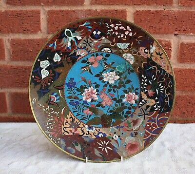 19th Century Japanese Meiji Period Cloisonne Charger