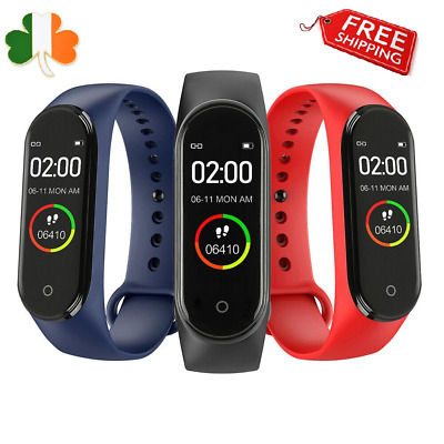 Smart Watch Heart Rate BP Monitor Activity Step Tracker Calorie Count Fit Band