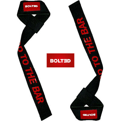 NEW wrist straps - BOLTED professional weightlifting and bodybuilding gym straps